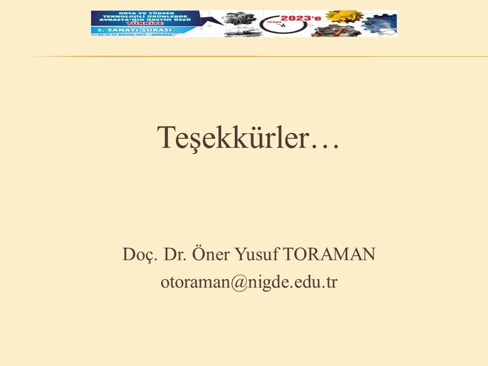 Doç. Dr. Öner Yusuf TORAMAN