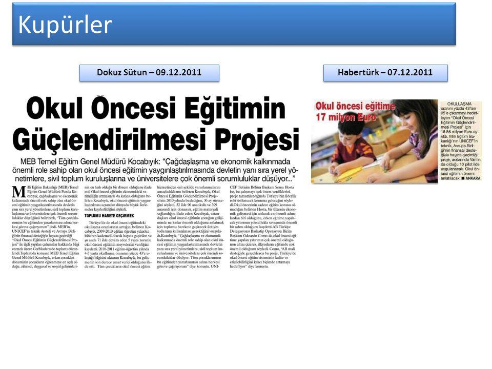 Kupürler Dokuz Sütun – 09.12.2011 Habertürk – 07.12.2011