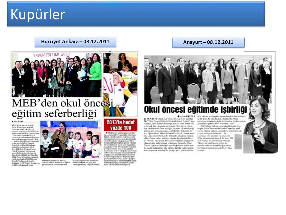 Kupürler Hürriyet Ankara – 08.12.2011 Anayurt – 08.12.2011