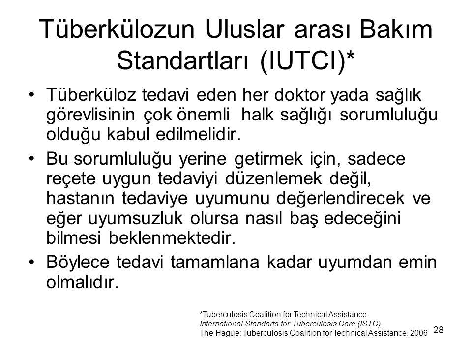 Tüberkülozun Uluslar arası Bakım Standartları (IUTCI)*