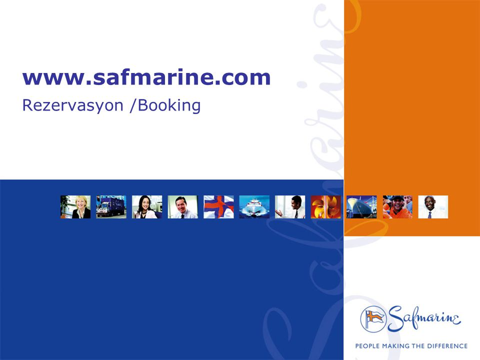 www.safmarine.com Rezervasyon /Booking
