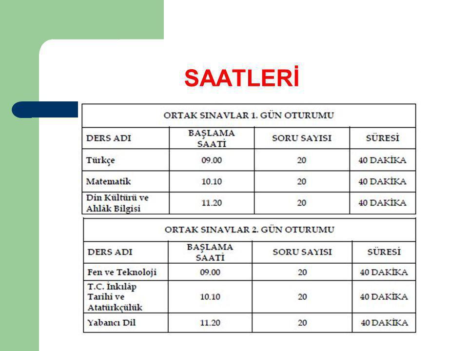 SAATLERİ
