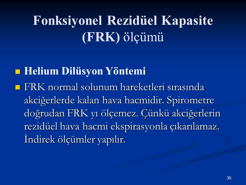 Fonksiyonel Rezidüel Kapasite (FRK) ölçümü
