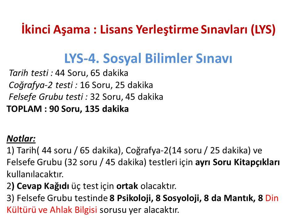 LYS-4. Sosyal Bilimler Sınavı