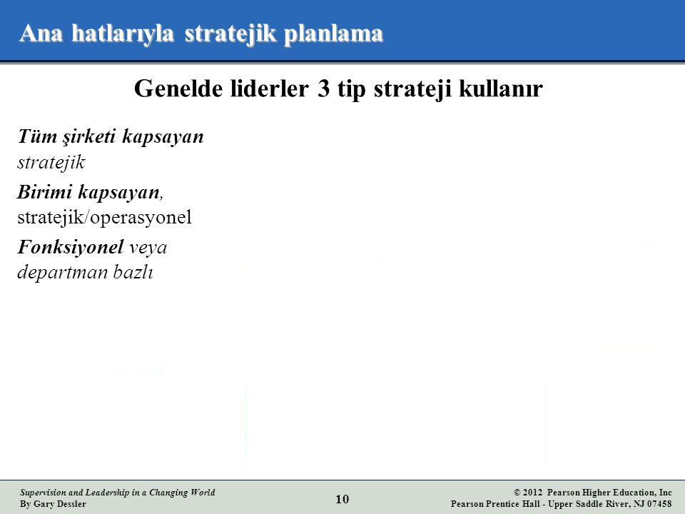 Ana hatlarıyla stratejik planlama