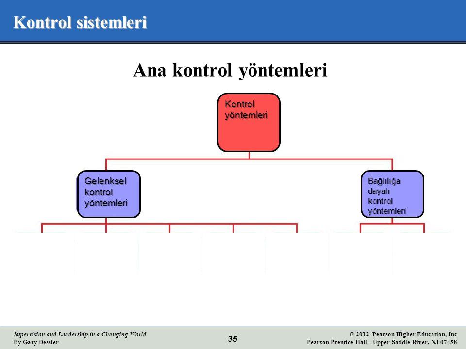 Ana kontrol yöntemleri