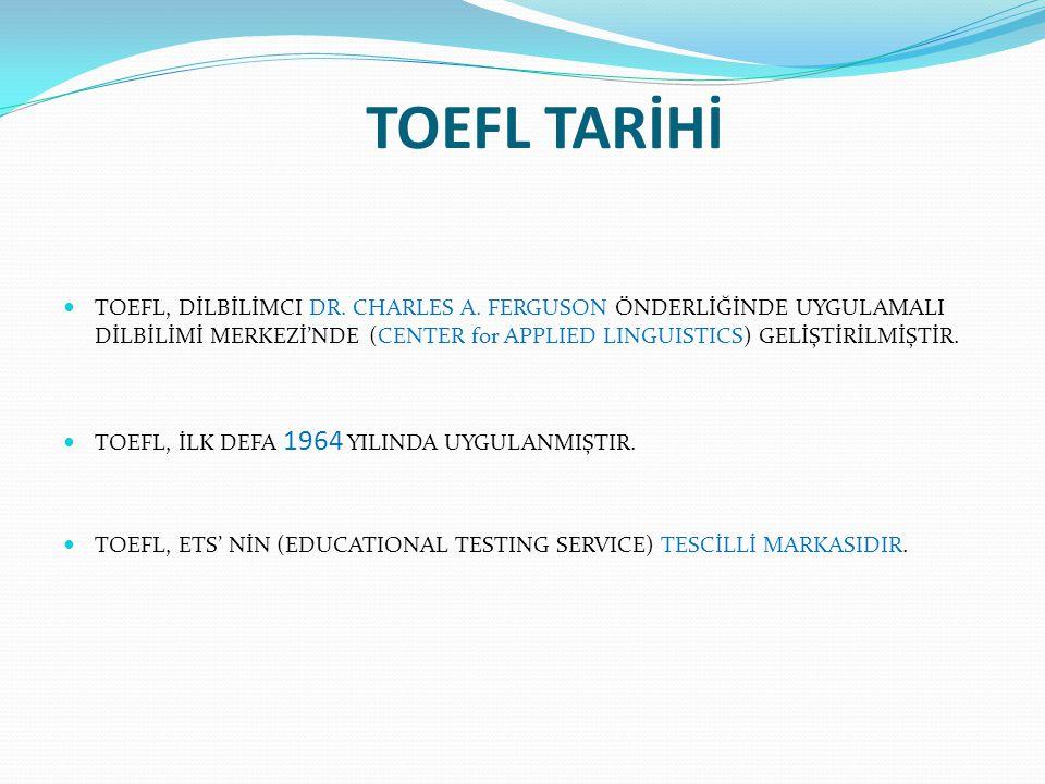 TOEFL TARİHİ