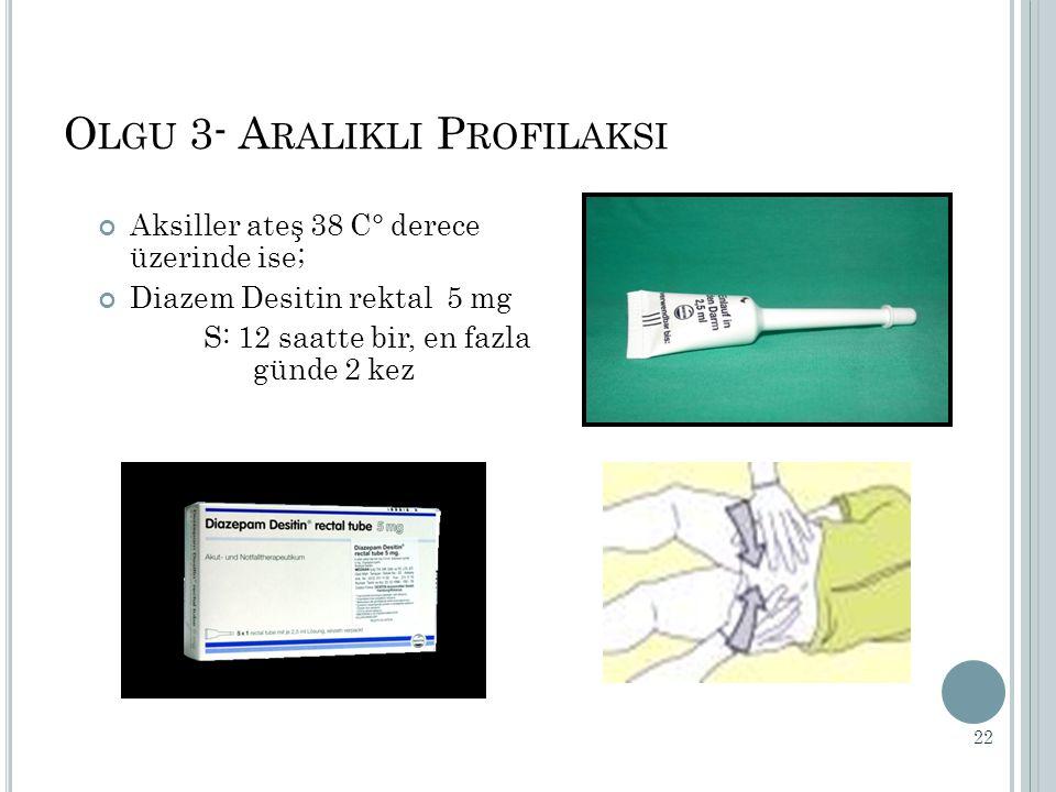 Olgu 3- Aralikli Profilaksi