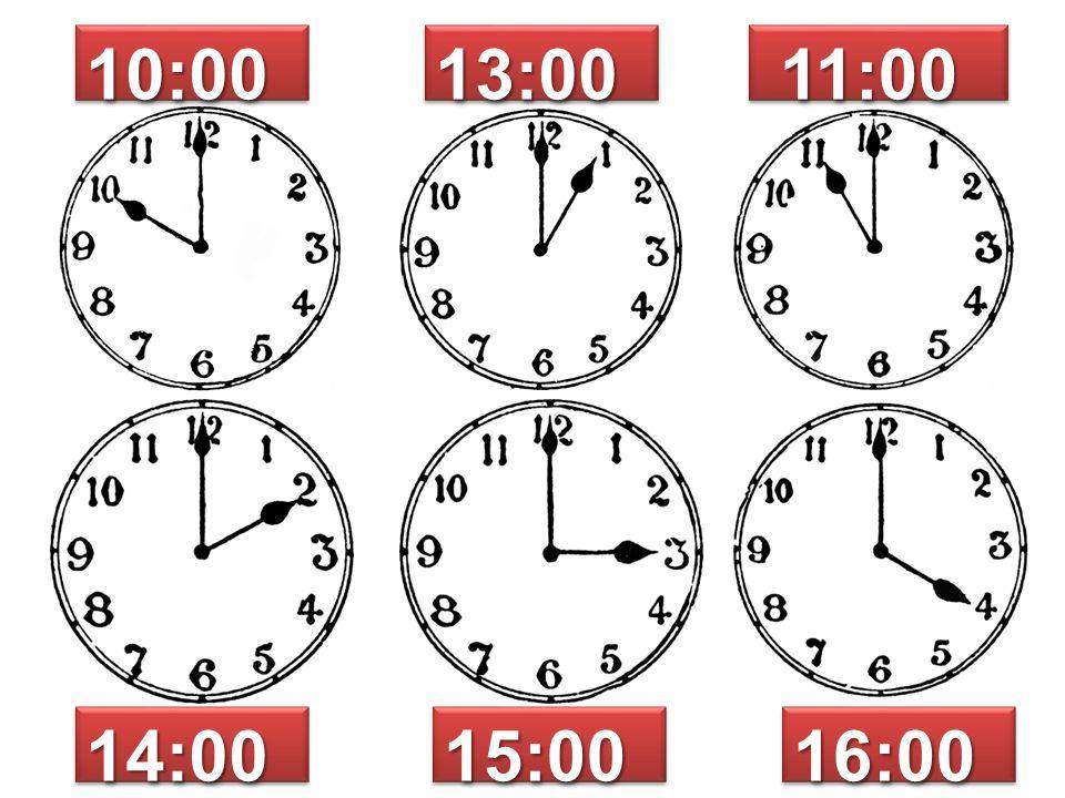 10:00 13:00 11:00 14:00 15:00 16:00