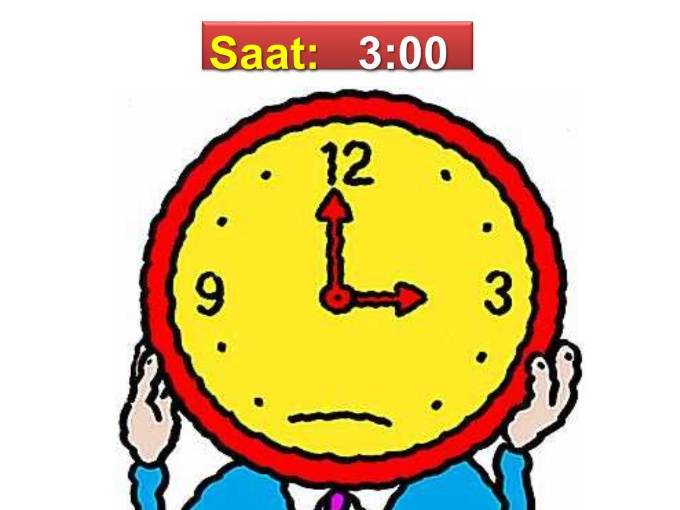 Saat: 3:00