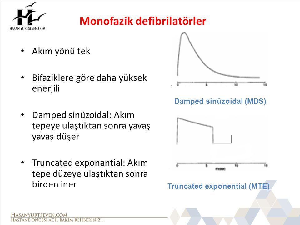 Monofazik defibrilatörler
