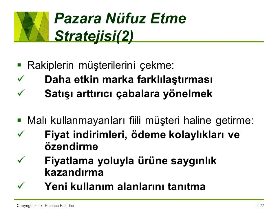 Pazara Nüfuz Etme Stratejisi(2)