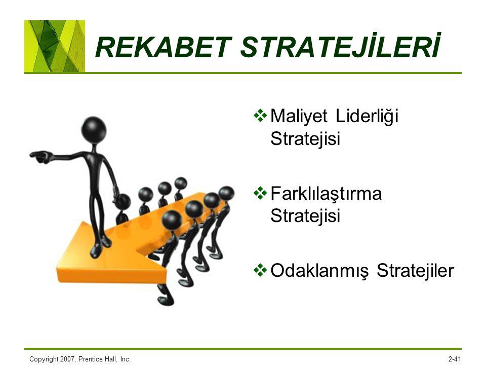 REKABET STRATEJİLERİ Maliyet Liderliği Stratejisi