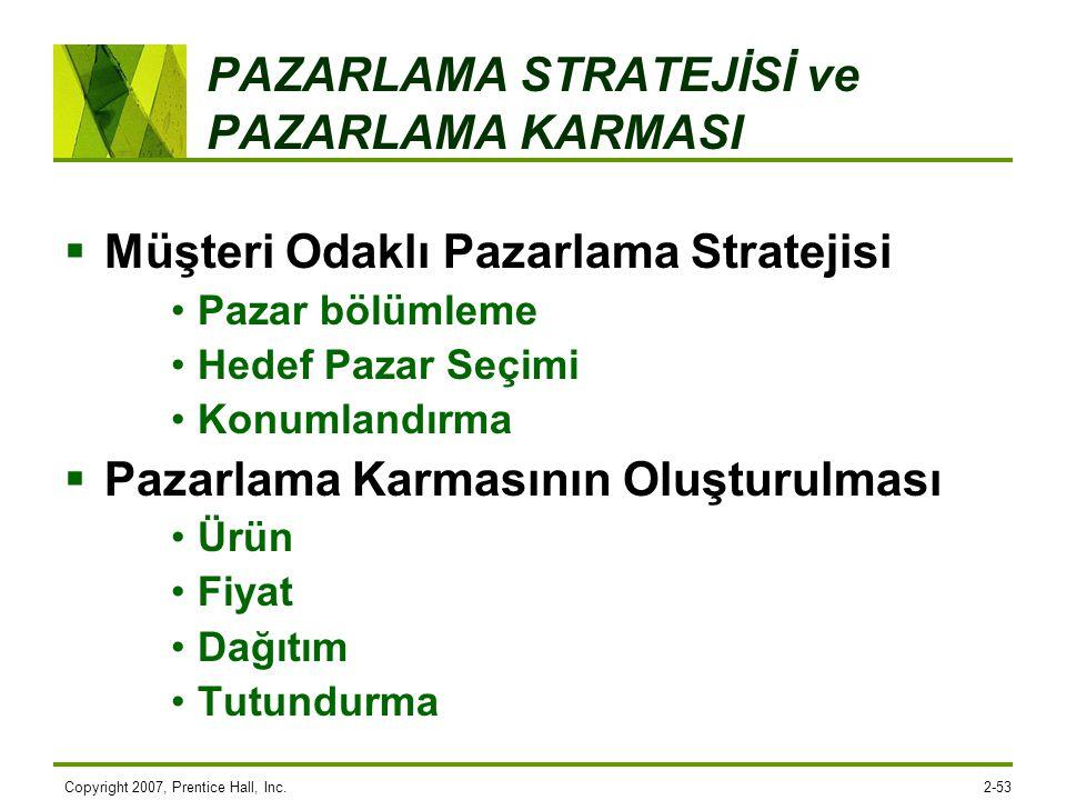 PAZARLAMA STRATEJİSİ ve PAZARLAMA KARMASI