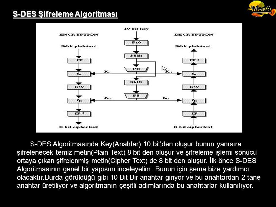 S-DES Şifreleme Algoritması