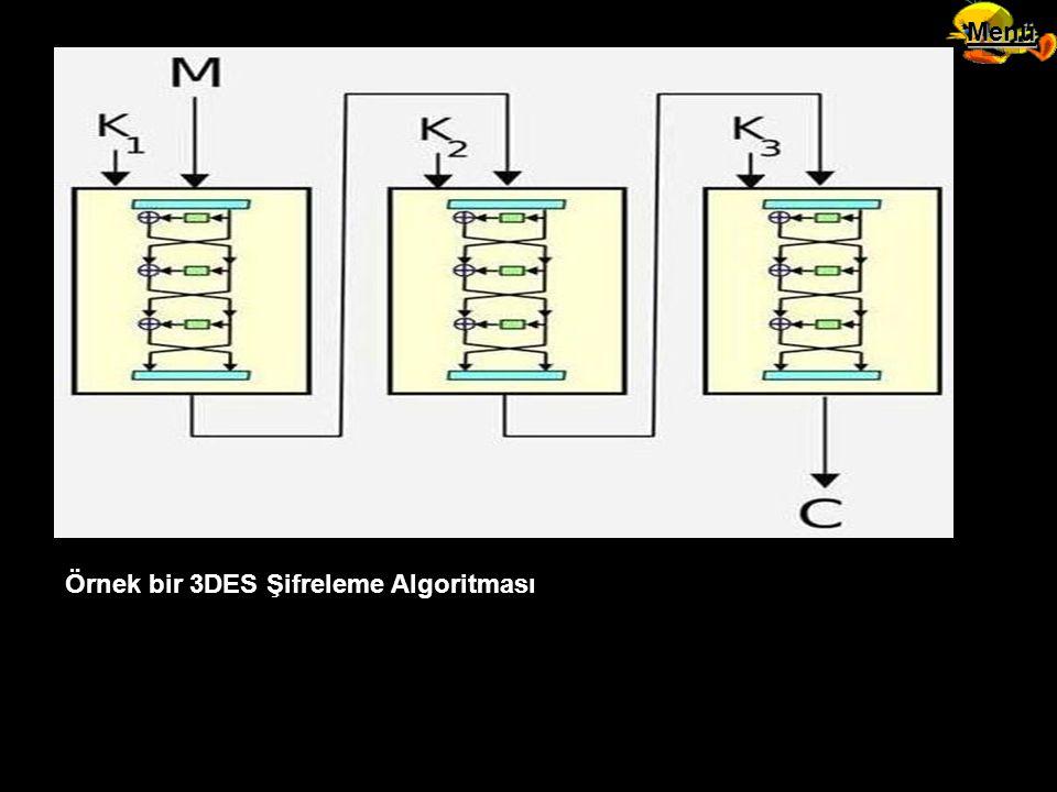 Menü Örnek bir 3DES Şifreleme Algoritması