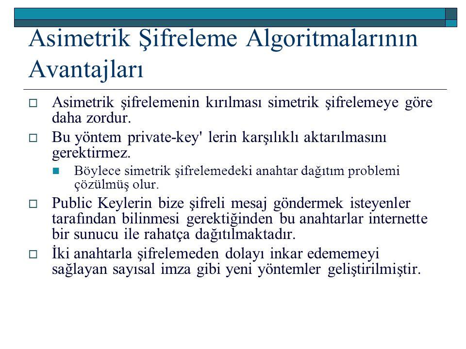 Asimetrik Şifreleme Algoritmalarının Avantajları