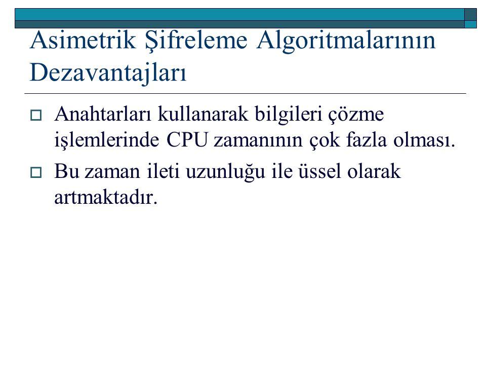 Asimetrik Şifreleme Algoritmalarının Dezavantajları