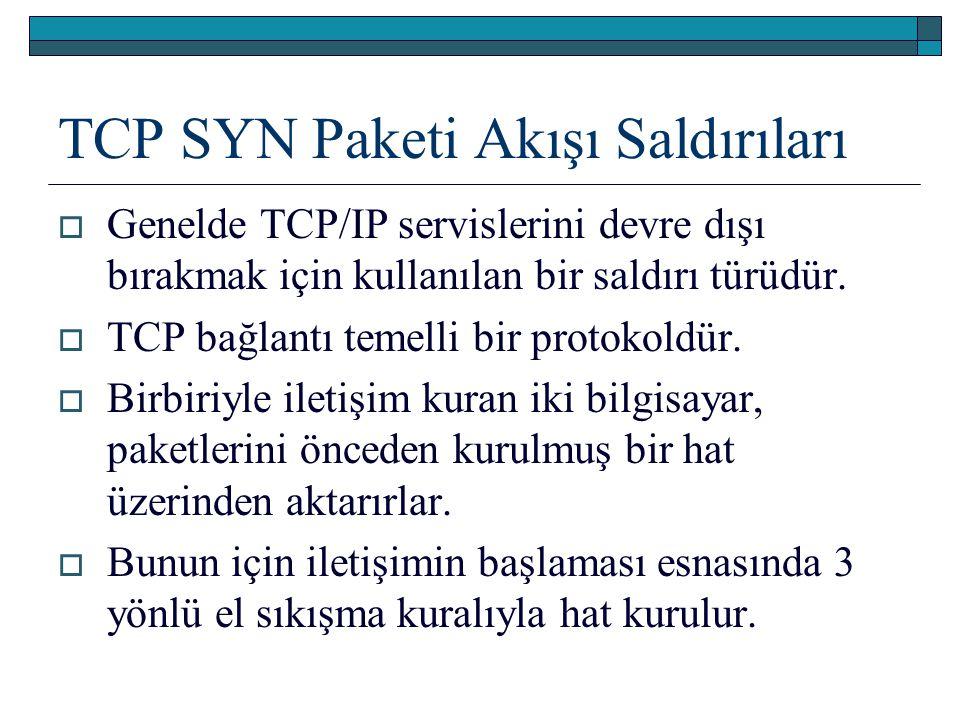 TCP SYN Paketi Akışı Saldırıları