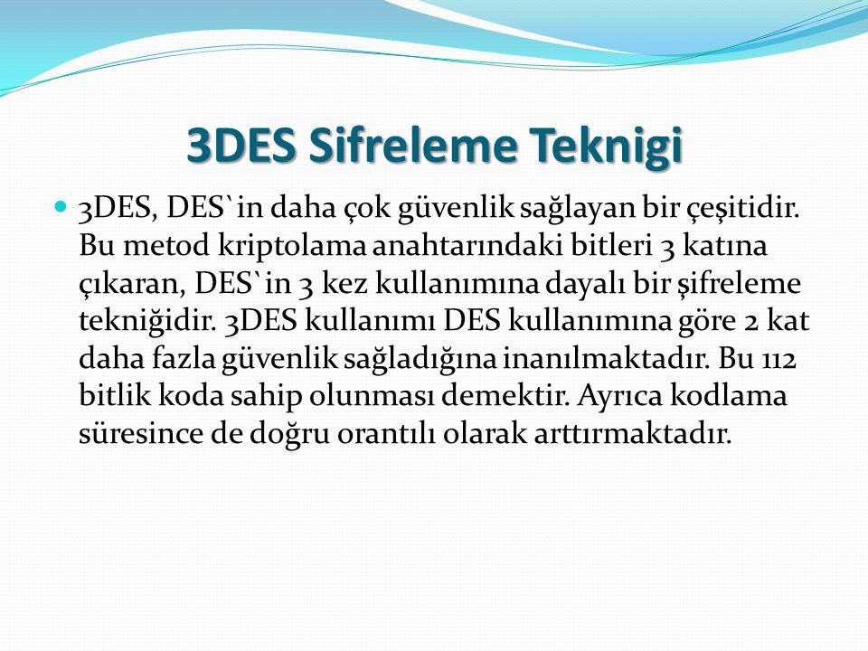 3DES Sifreleme Teknigi