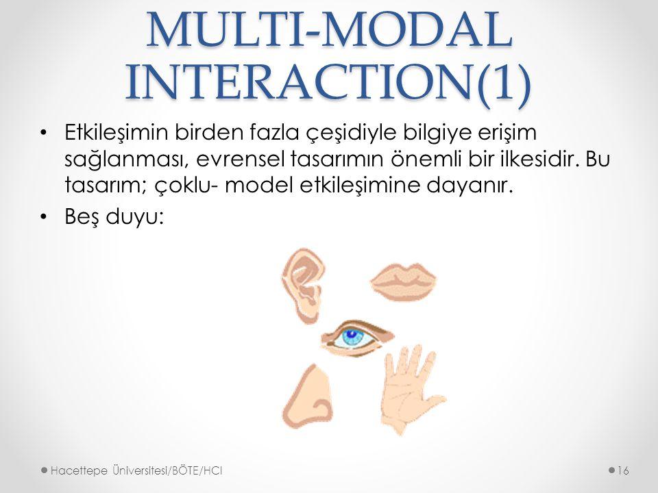 MULTI-MODAL INTERACTION(1)