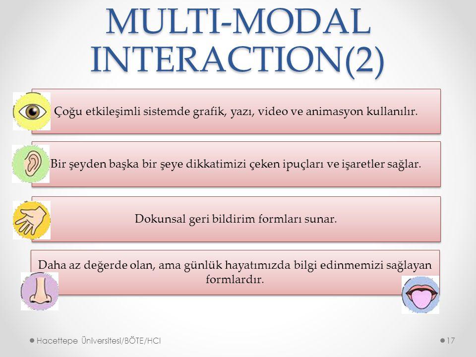 MULTI-MODAL INTERACTION(2)