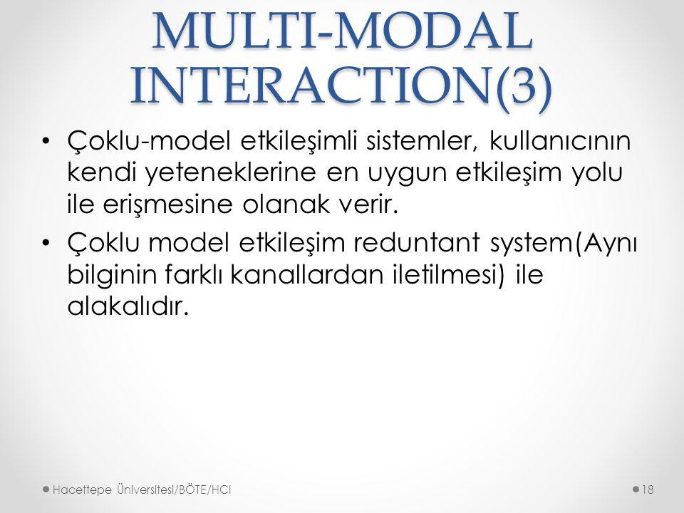 MULTI-MODAL INTERACTION(3)