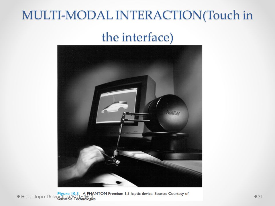 MULTI-MODAL INTERACTION(Touch in the interface)
