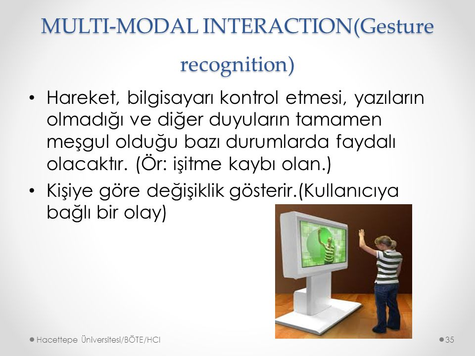 MULTI-MODAL INTERACTION(Gesture recognition)