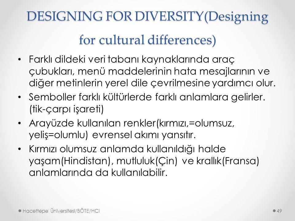 DESIGNING FOR DIVERSITY(Designing for cultural differences)