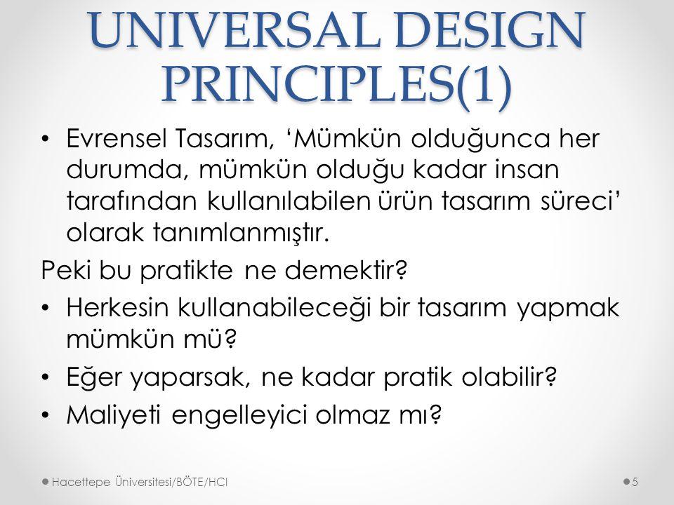 UNIVERSAL DESIGN PRINCIPLES(1)