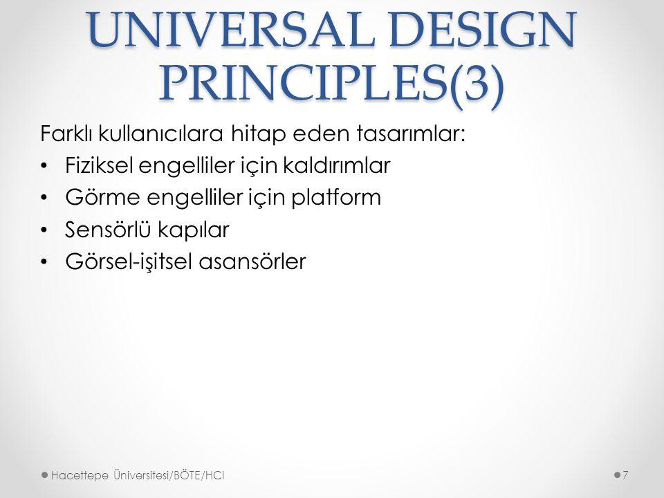 UNIVERSAL DESIGN PRINCIPLES(3)