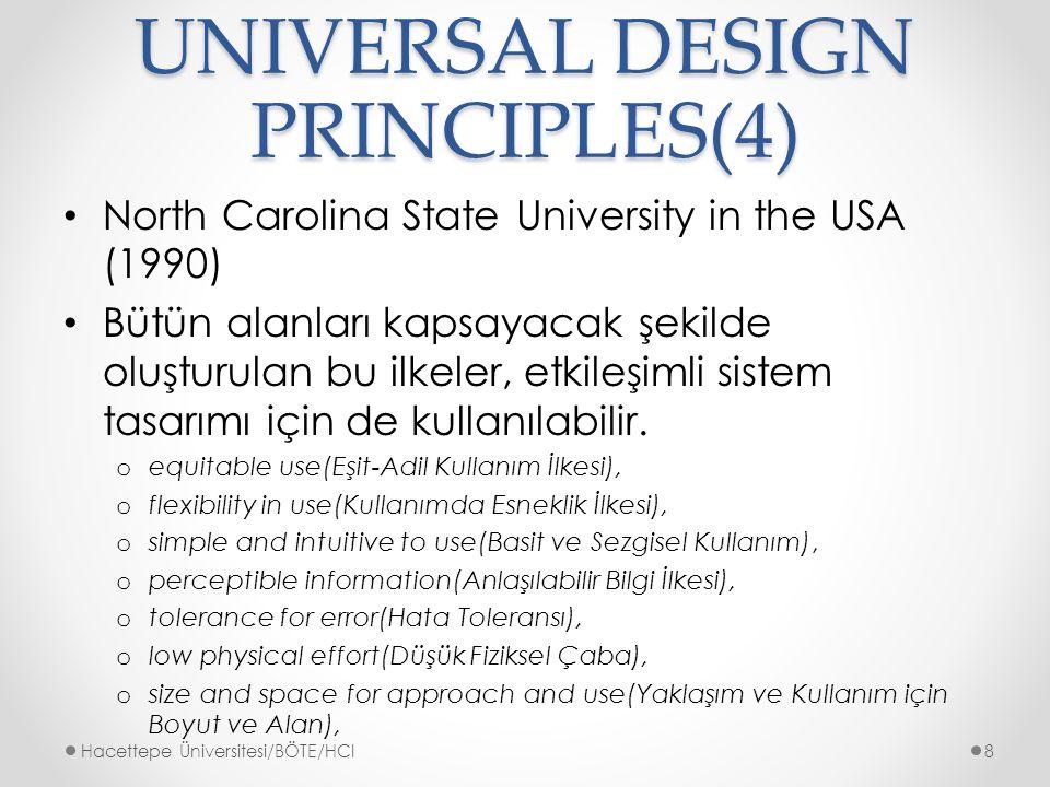 UNIVERSAL DESIGN PRINCIPLES(4)