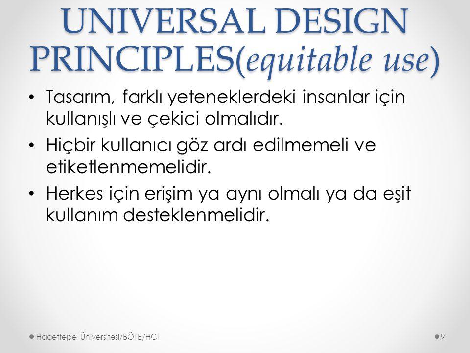 UNIVERSAL DESIGN PRINCIPLES(equitable use)
