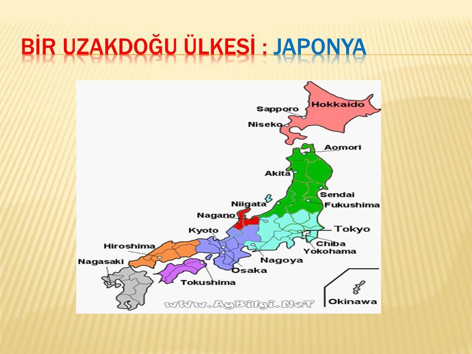 BİR UZAKDOĞU ÜLKESİ : JAPONYA