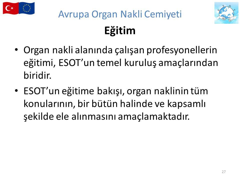 Avrupa Organ Nakli Cemiyeti Eğitim