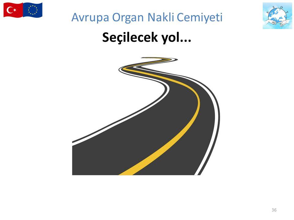 Avrupa Organ Nakli Cemiyeti Seçilecek yol...