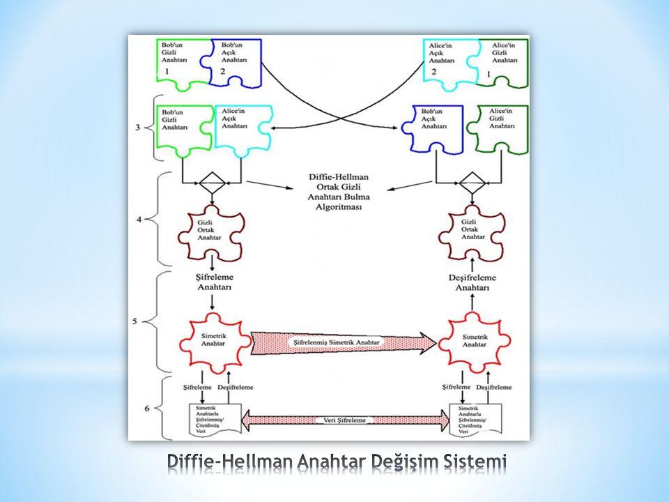 Diffie-Hellman Anahtar Değişim Sistemi