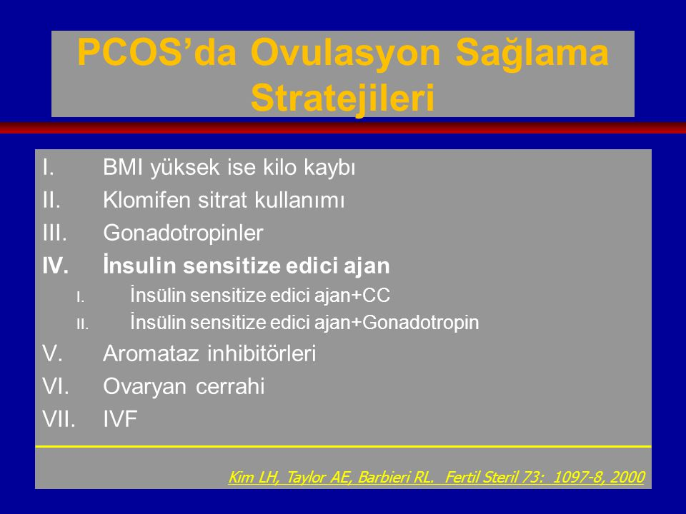 PCOS'da Ovulasyon Sağlama Stratejileri