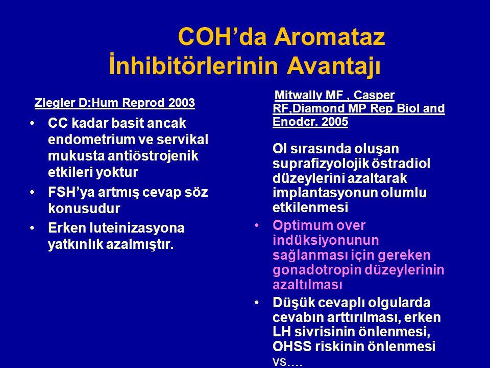 COH'da Aromataz İnhibitörlerinin Avantajı