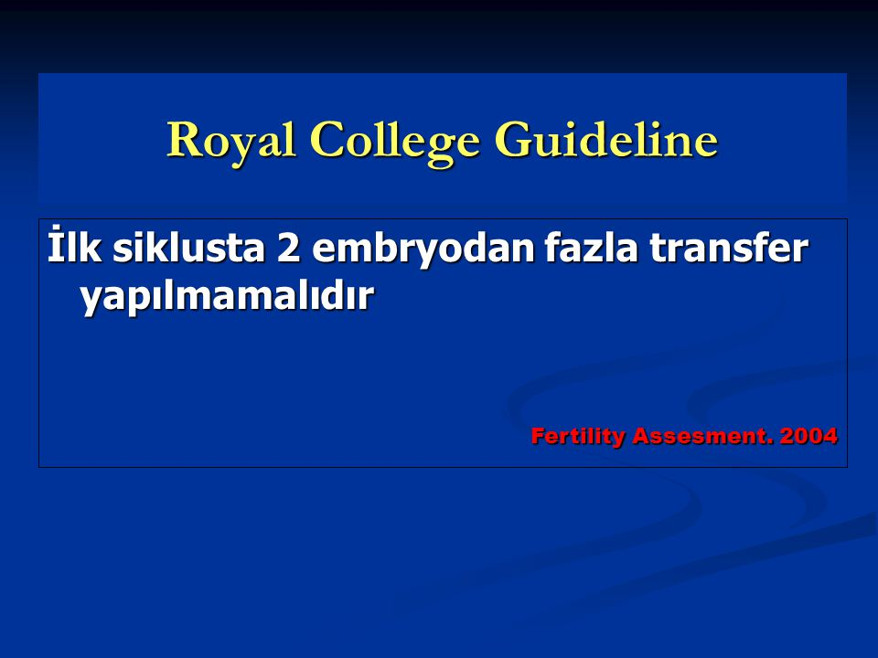 Royal College Guideline