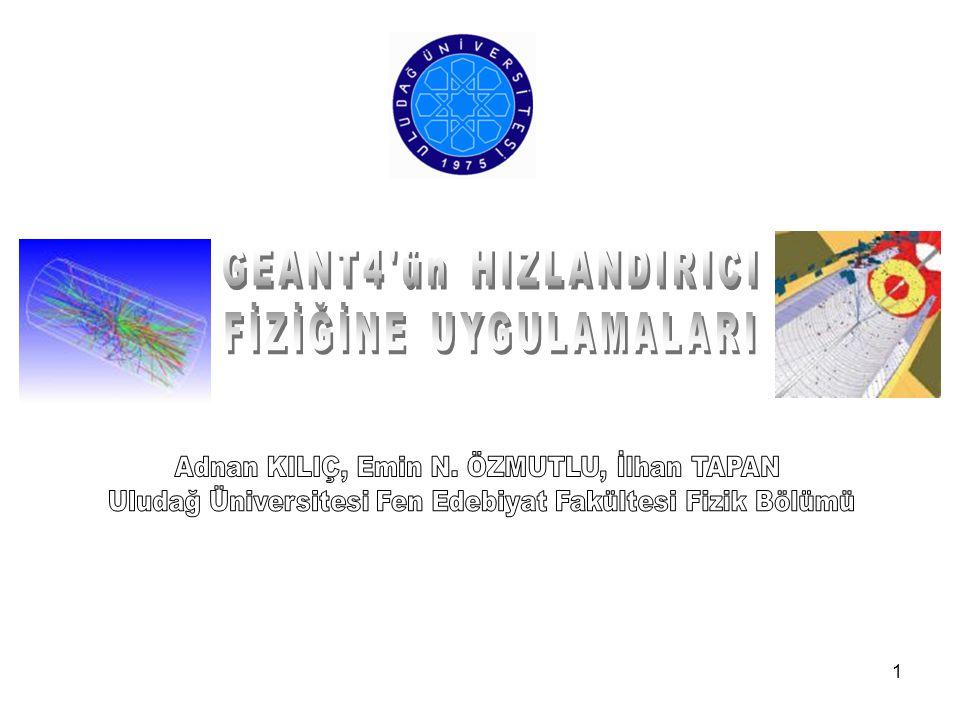 GEANT4 ün HIZLANDIRICI FİZİĞİNE UYGULAMALARI