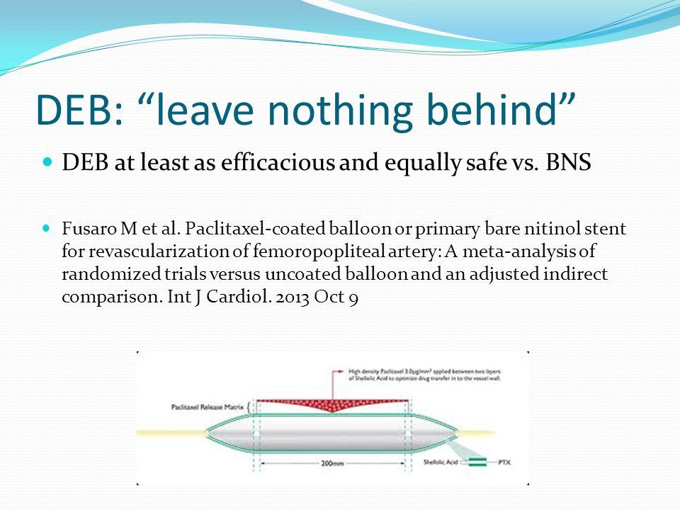 DEB: leave nothing behind