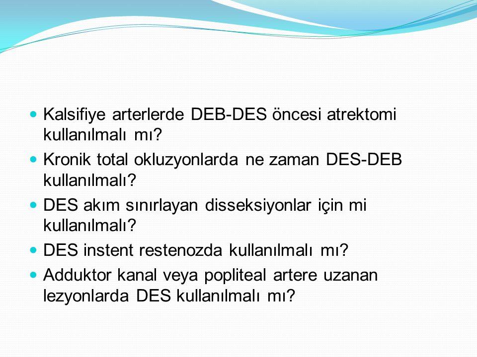 Kalsifiye arterlerde DEB-DES öncesi atrektomi kullanılmalı mı