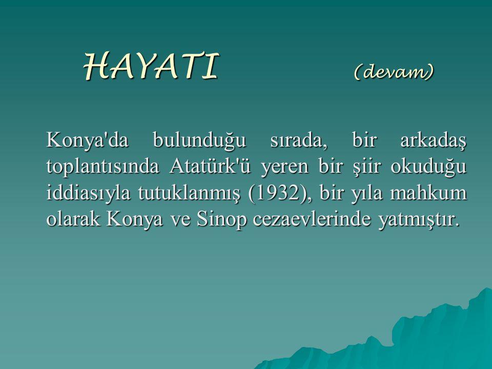 HAYATI (devam)