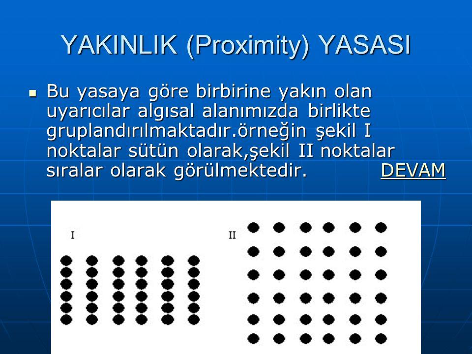 YAKINLIK (Proximity) YASASI