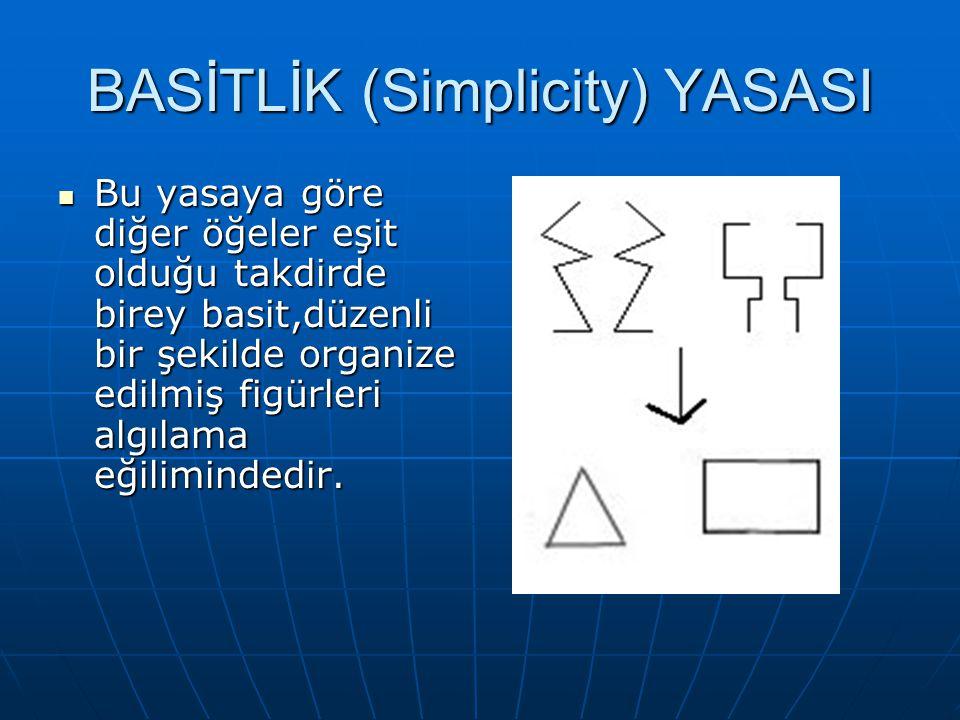 BASİTLİK (Simplicity) YASASI