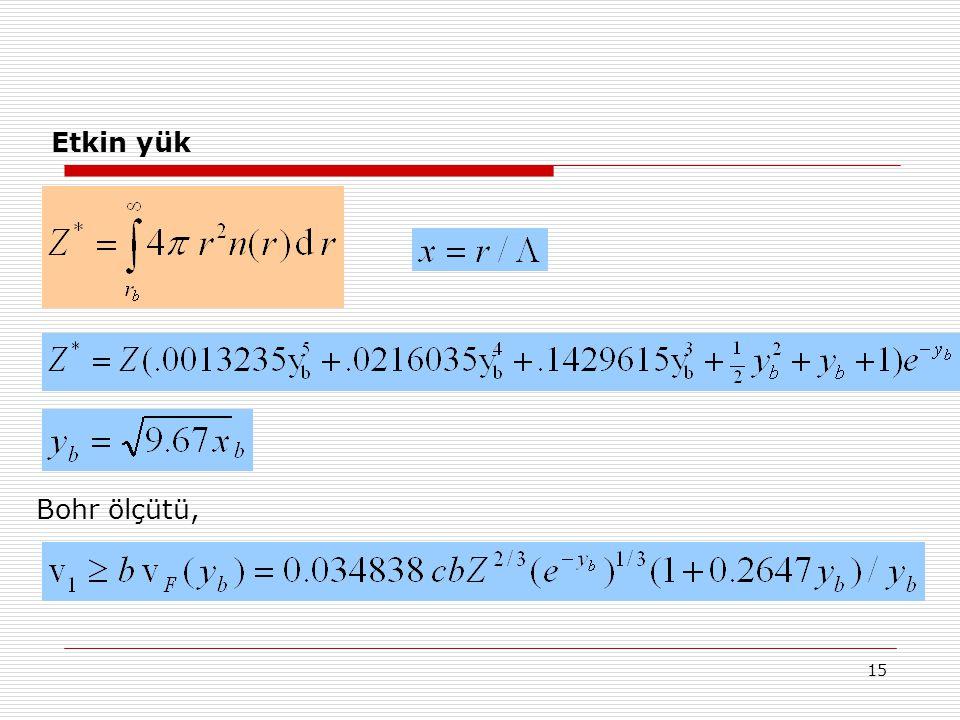 Etkin yük Bohr ölçütü,