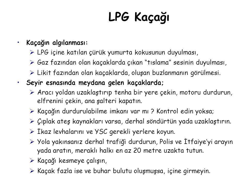LPG Kaçağı Kaçağın algılanması: