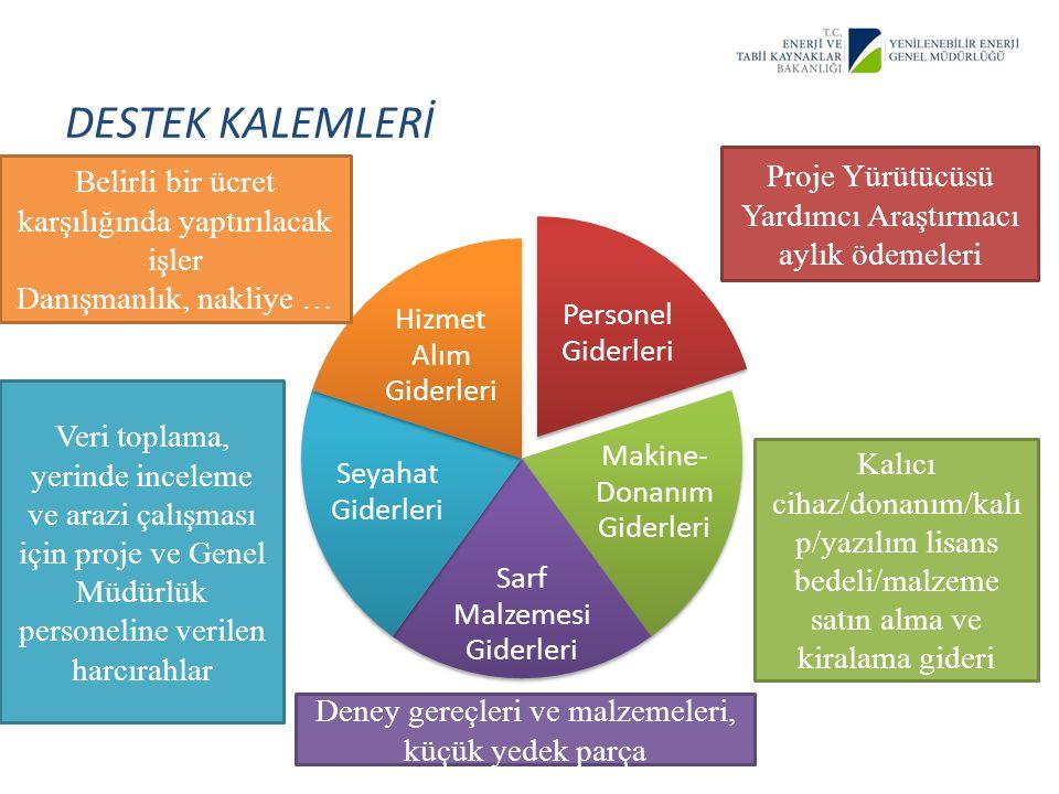 DESTEK KALEMLERİ Proje Yürütücüsü